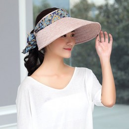 85b34d727920a Anti-UV Women Folding Beach Sun Hat Wide Brim Face Nack Protactive ...