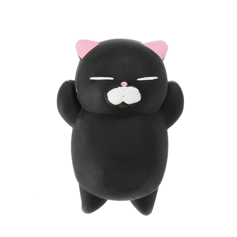 Mochi Kitten Cat Squishy Squeeze Cute Healing Toy Kawaii Collection Stress Reliever Gift Decor