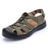 Men Comfy Anti Collision Toe Hook Loop Sandals Outdoor Shoes