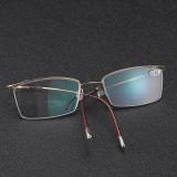 BRAODISON Presbyopic Reading Glasses HD Coated Resin Lens Flexible Titanium Frame