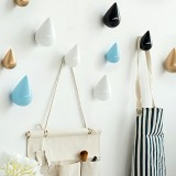 Honana HN-48 Brief Water Drop Shaped Hook Wooden Decorative Wall Mounted Hanger Bedroom