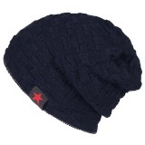 Men's Winter Warm Cotton Knitted Beanie Stretchable Windproof Earmuffs Cap Slouch Skiing Hat