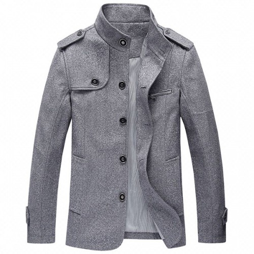 Men's Casual Business Loose Trench Coat Big Size Fashion Solid Color Trun-down Windbreaker