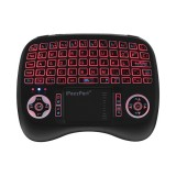 iPazzPort KP-810-21T-RGB Spainish Three Color Backlit Mini Keyboard Touchpad Airmouse