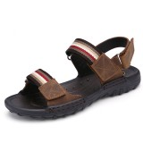 Men Comfortable Leather Hook Loop Sandals Beach Sandals Shoes