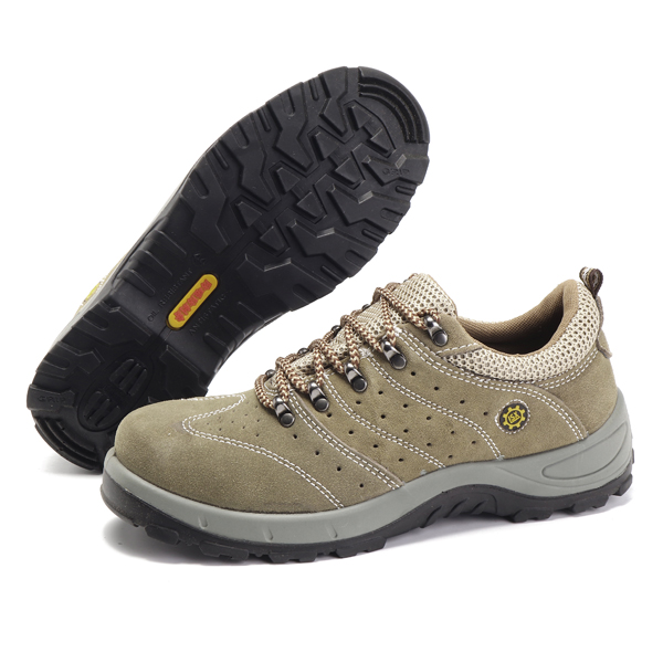 Comfy Slip Resistant Outsole Anti Collision Toe Safe Outdoor Working Shoes for Men
