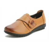 US Size 5-12 Casual Leather Hook Loop Comfy Flat Loafers