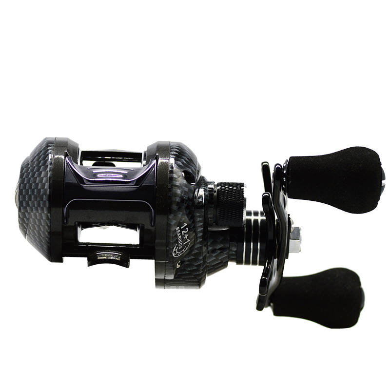 ZANLURE 6.5:1 12+1BB Metal Baitcasting Fishing Reel 8KG Drag Left / Right Hand Fishing Wheel