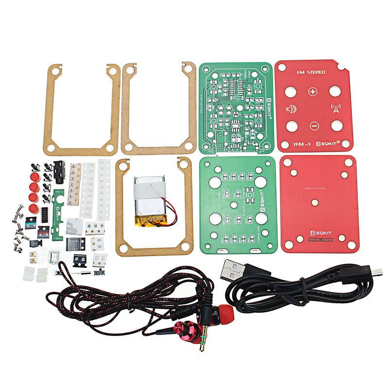 FM Stereo Radio Kit 76-108Mhz Frequency 180mAh 32 Impedance YFM-1 DIY  Electronic Parts