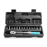 15pcs Torque Wrench Allen Key Tool Screwdriver Drive Socket Bit Set