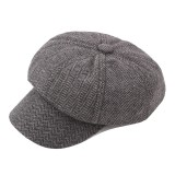 Men Cotton Newsboy Beret Cap Outdoor Casual Winter Cabbie Hat Adjustable Painter Berets Caps