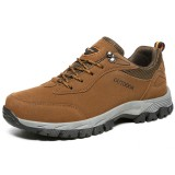 Large Size Men Breathable Wear Resistance Outsole Outdoor Hiking Comfy Athletic Shoes