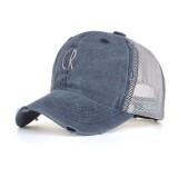 Men Women Mesh Breathable Baseball Cap Outdoor Cotton Washed Sun Visor Hat