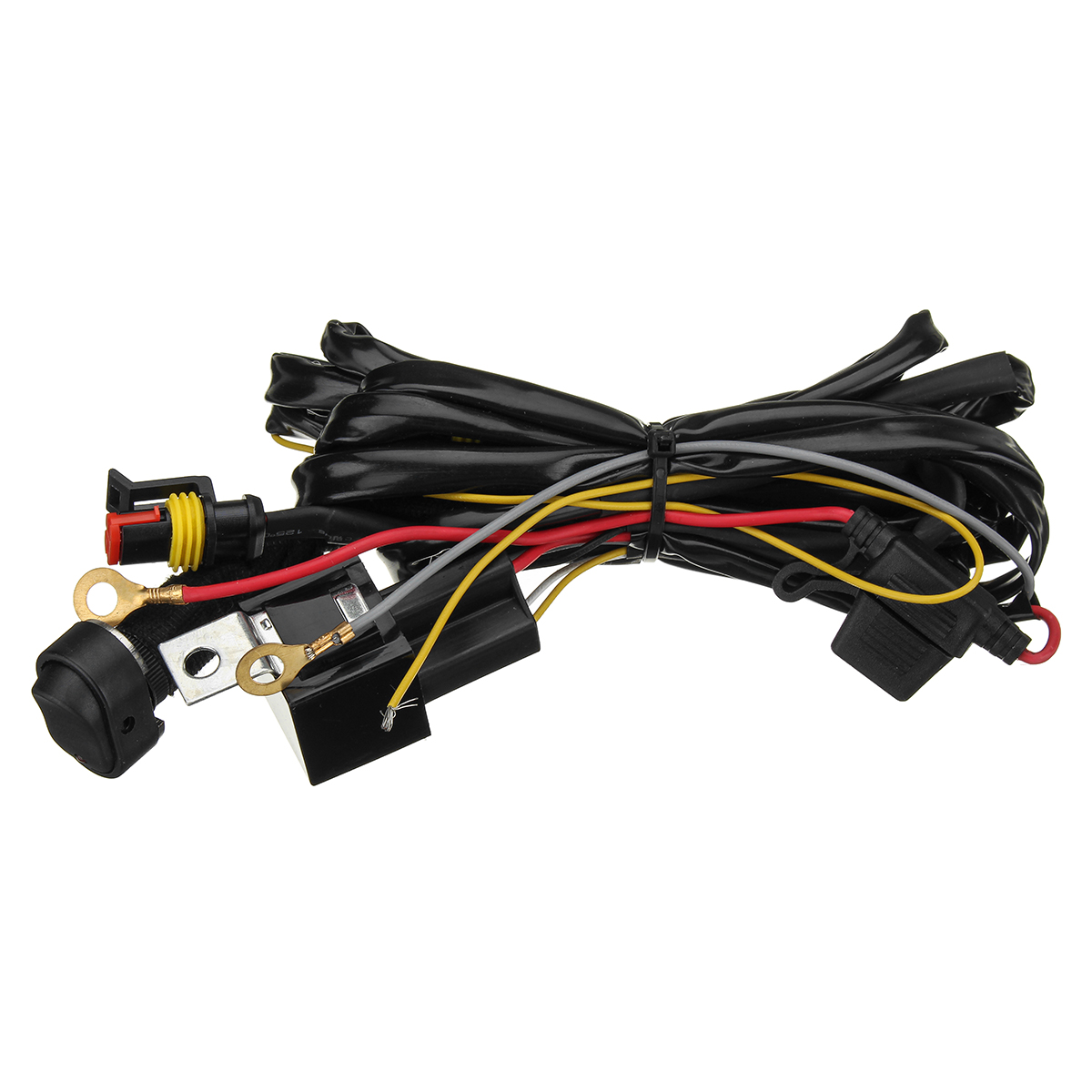 Bmw R1200gs Wiring Harness Great Engine Diagram Schematic R80 12v 40a Led Fog Lights Switch On Off For Rh Alexnld Com Stereo Radio