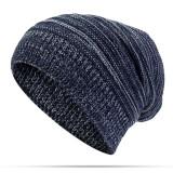 Women's Solid Stripe Knit Skullies Beanie Hat Casual Ear Protection Windproof Warm Outdoor Hat