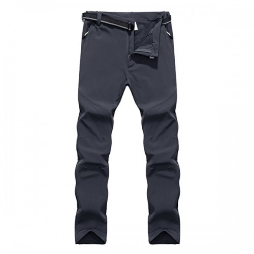 Large Size S-4XL Thick Warm Pants Outdoor Windproof Waterproof Climbing Pants Men's Soft Shell Pants