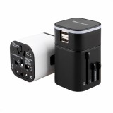 All in One Universal International Plug Adapter 2USB Ports World Travel AC Power Charger US UK AU EU