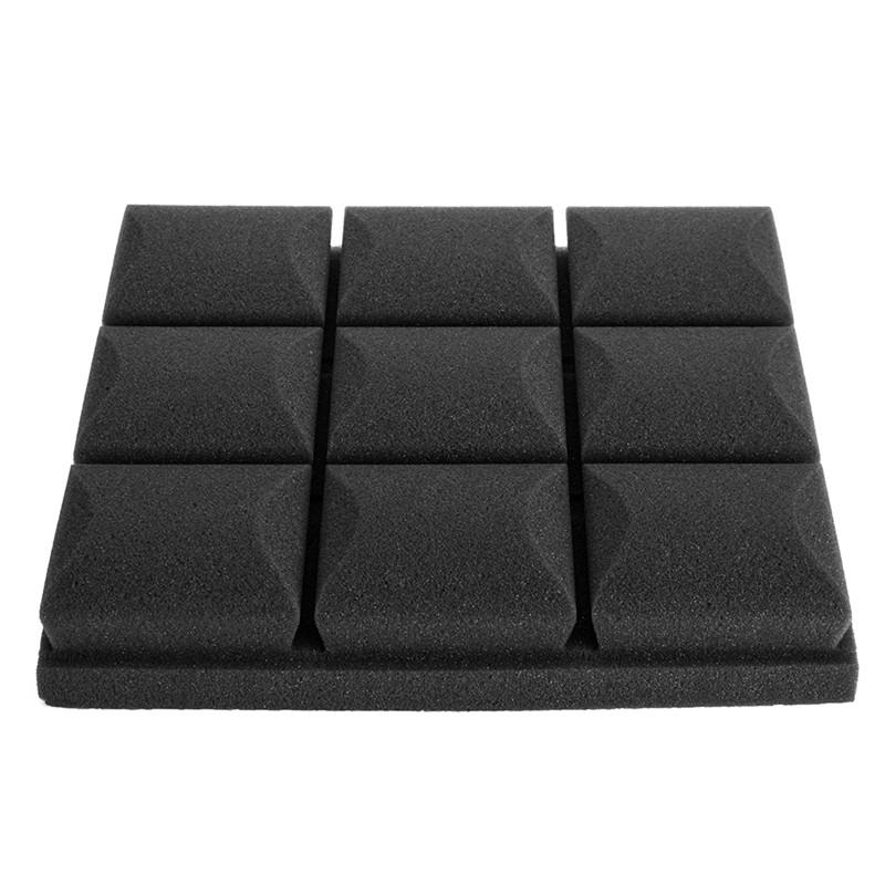 1Pc 30x30x5cm Soundproof sponge Acoustic Soundproof Sound Stop Absorption for KTV Audio Room