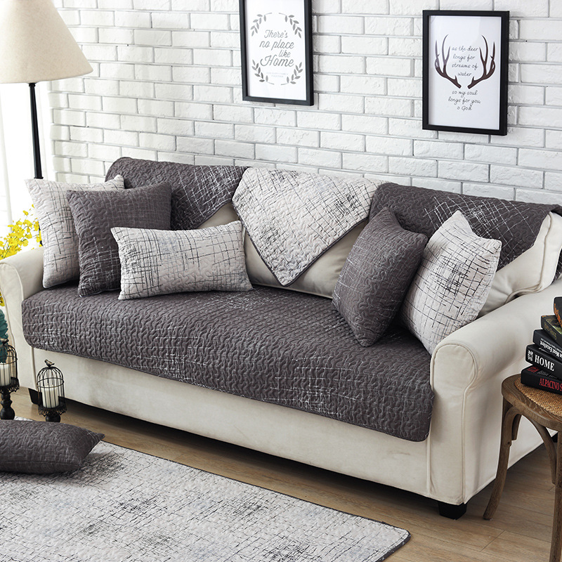Modern Magical Sofa Cover Corner Fabric Double Towel Sofa Cover Set