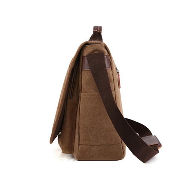Large Capacity Canvas Business Laptop Bag Shoulder Bag Crossbody Bag For Men