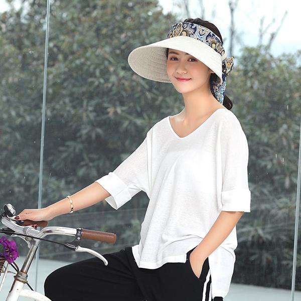 e3d71324912bd Women Summer Wide Brim Sun Bucket Hat Foldable Anti-UV Gardening ...