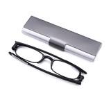 SHUAIDI TR90 Black Frame Reading Glasses Super Light Folding Anti-Fatigue Presbyopic Glasses 108
