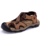 Men Breathable Comfy Adjustable Elastic Band Hook Loop Sandals