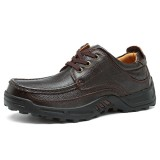 Large Size Comfy Men Casual Business Genuine Leather Lace Up Oxfords