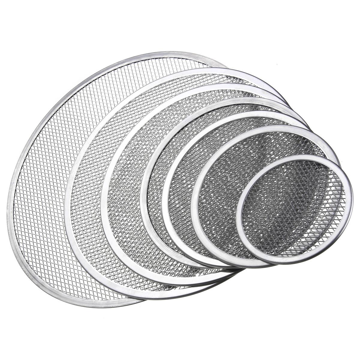 Aluminum Pizza Tray Screen Mesh Pan Non-stick Net Pastry Bakeware Baking Tools