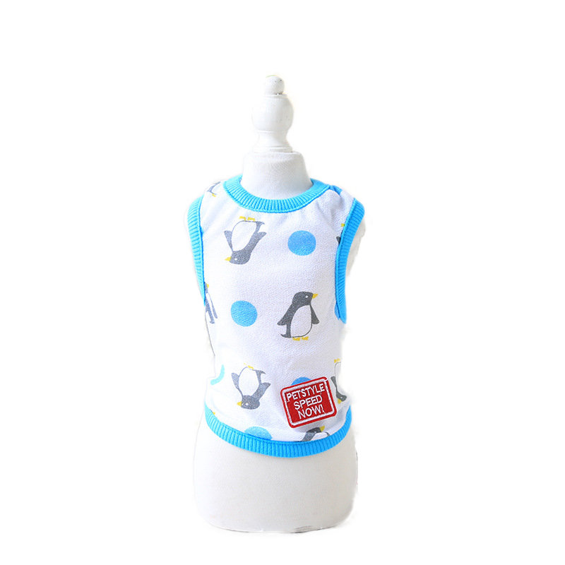 Small Puppy Cartoon Vest Pet Dog Clothes for Dogs Summer Clothing Pet T-shirt