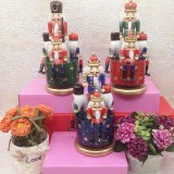 Wooden Guard Nutcracker 4 Soldier Toy Music Box Christmas Decor Christmas Gift