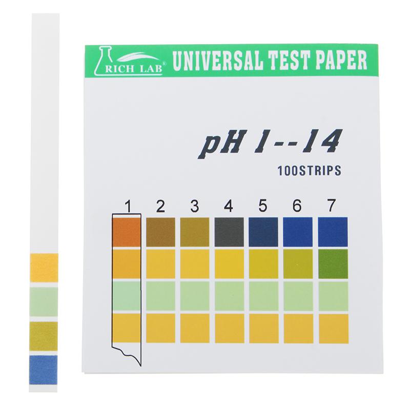 Universal Ph Test Strips Full Range 1 14 Indicator Paper Tester 100