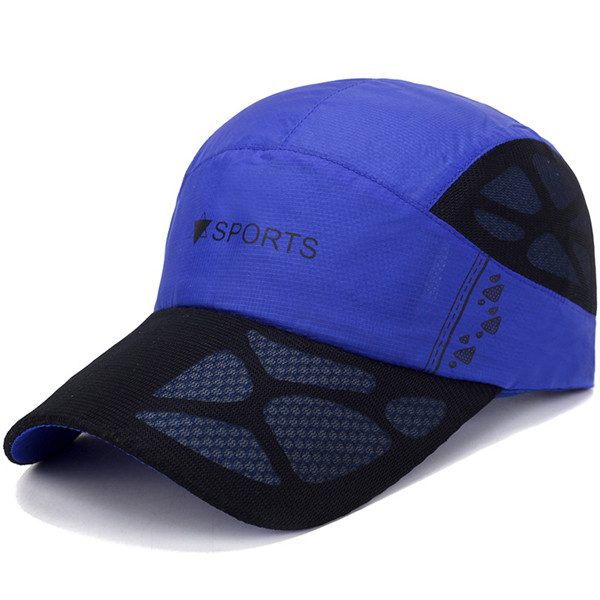Men Women Mesh Quick Dry Hat Printting Breathable Baseball Cap Outdoor Sport Sunshade Peaked Caps