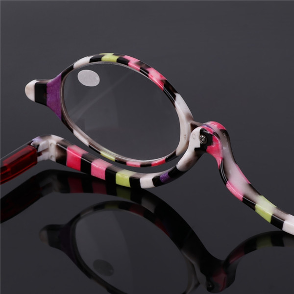 11ff97000ee0 Rotatable Lens Reading Glasses Enlarged Folding Makeup Use Of ...