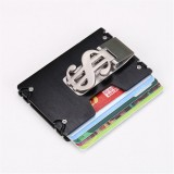 Men RFID Blocking Slim Credit Card Holder Aluminum Money Clip Minimalist Wallet