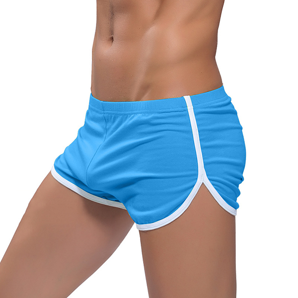 Mens Loose Home Breathable Sport Soft Cotton Boxer Shorts Sleepwear