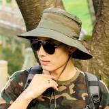 Mens Polyester Mesh Breathable Bucket Hats Fisherman Hat Outdoor Climbing Sunshade Visor Cap