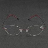 BRAODISON Presbyopic Reading Glasses Flexible Titanium Frame HD Coated Resin Lens