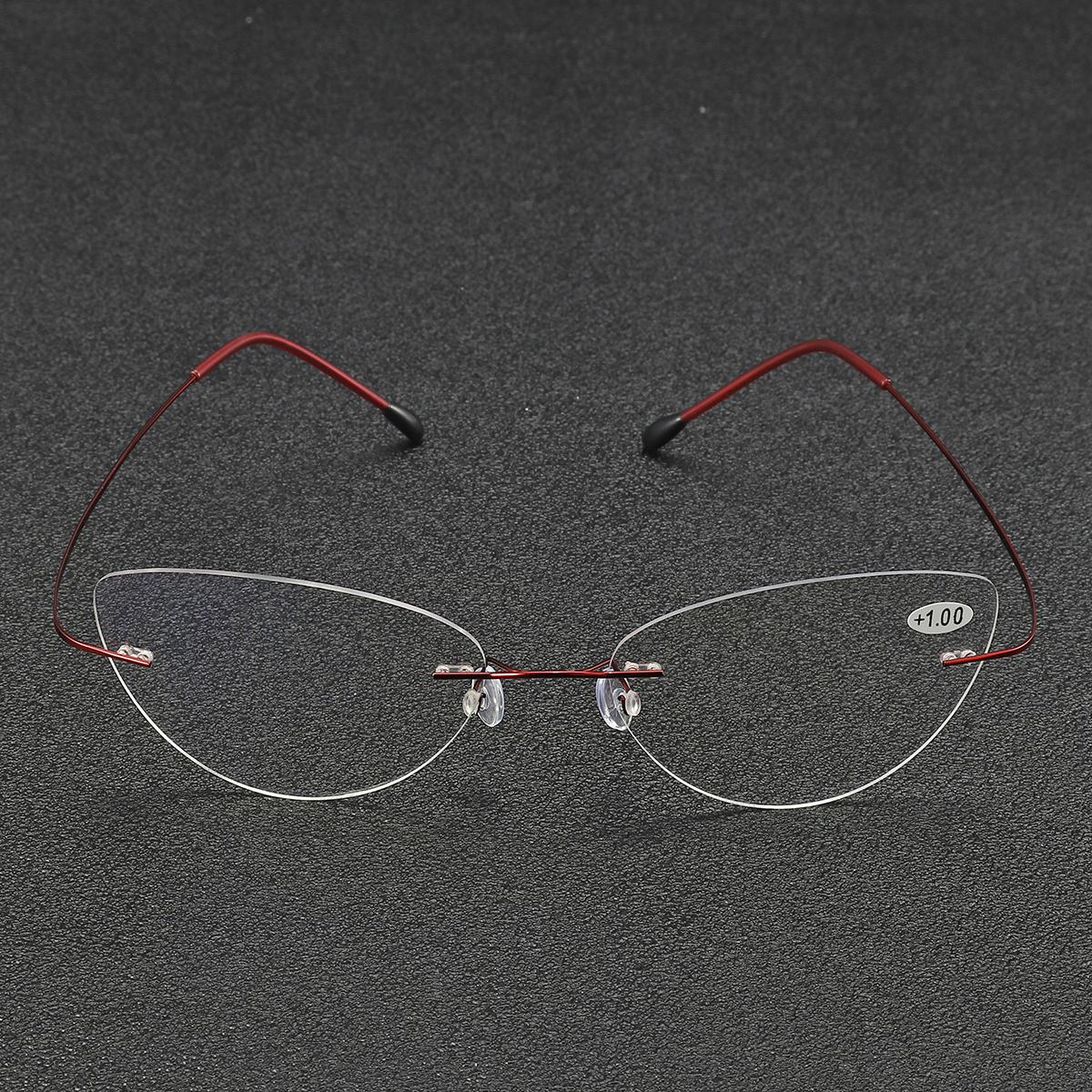 6477cb8b51 BRAODISON Presbyopic Reading Glasses Flexible Titanium Frame HD Coated Resin  Lens