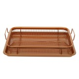 BBQ Picnic Stainless Steel Oven Grill Healthier Cook Bacon Drip Rack Tray With Pan