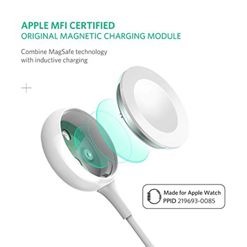 UGREEN CD177 5V / 1A Apple MFi Certified Magnetic Wireless Charger Charging Cable, Cable Length: 1m, For All Apple Watch 38mm and 42mm