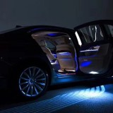 DC 8-36V Ghost Shadow Courtesy Angel Wings Projection Lamp Car Door LED Welcome Lights, Light Color: Cold Blue