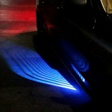 DC 8-36V Ghost Shadow Courtesy Angel Wings Projection Lamp Car Door LED Welcome Lights, Light Color: Blue