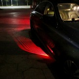 DC 8-36V Ghost Shadow Courtesy Angel Wings Projection Lamp Car Door LED Welcome Lights, Light Color: Red