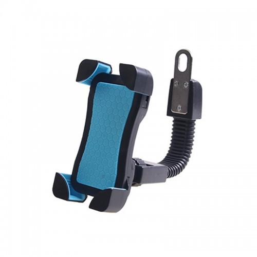 Universal 360 Degrees Free Rotation ABS Motorcycle Phone Bracket Mountain Bike Navigation Bracket GPS/Mobile Holder for 3.5-6.5 inch Mobile Phone (Blue)