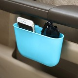 Car Cup Holder Garbage Can Portable Vehicle Trash Can Bin Rubbish Bin Organizer Car-mounted Trash Car Storage Box (Blue)