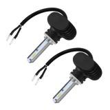 2 PCS 880 IP65 Waterproof White Light 6 CSP LED Car Headlight Bulb, 9-36V / 18W, 6000K / 2000LM