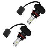 2 PCS 9004 IP65 Waterproof White Light 12 CSP LED Car Headlight Bulb, 9-36V / 18W, 6000K / 2000LM