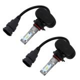 2 PCS 9005 IP65 Waterproof White Light 6 CSP LED Car Headlight Bulb, 9-36V / 18W, 6000K / 2000LM