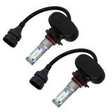 2 PCS 9006 IP65 Waterproof White Light 6 CSP LED Car Headlight Bulb, 9-36V / 18W, 6000K / 2000LM